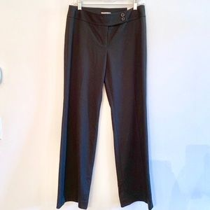 NWT LOFT Marisa Straight/Boot Leg Black Trousers